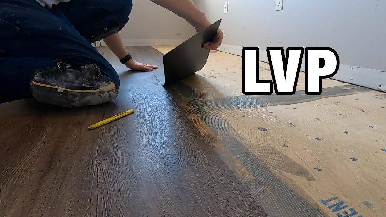 How to install glue down luxury vinyl plank flooring on