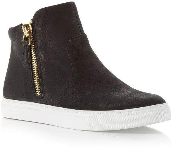Kenneth Cole Women's Kiera High Top Sneakers | Black high