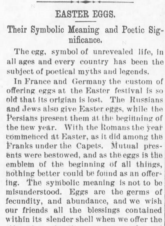 Easter Eggs Symbolic Meaning Part 1 Of 4 Kansas Farmer Topeka Ks