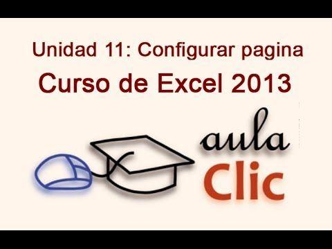 Curso de Excel 2013. 11.1. Configurar página.
