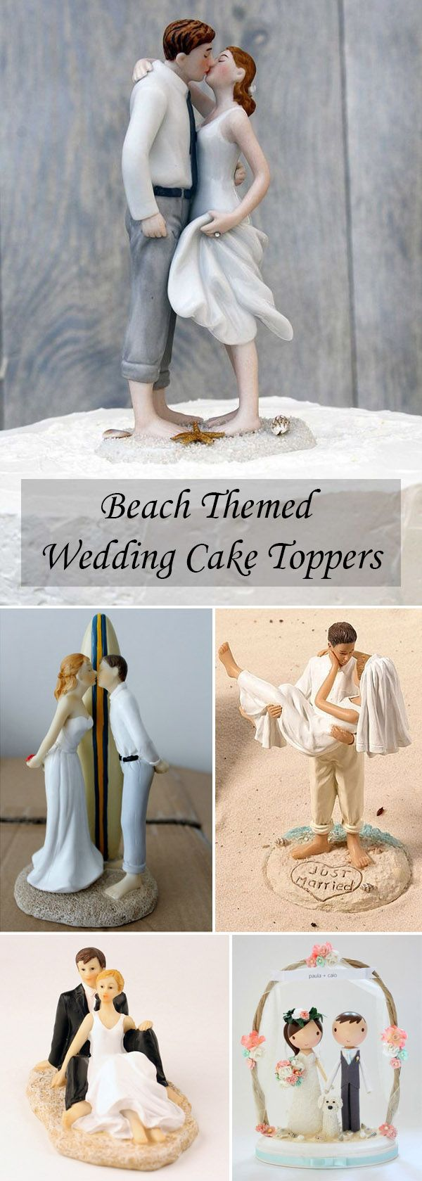 Charmant Beach Themed Wedding Cake Toppers Ideas