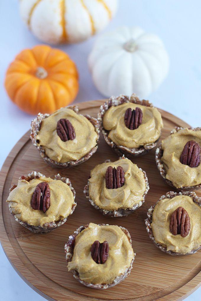 No Bake Pecan Pumpkin Pie Bites Recipe Pumpkin Pie Pumpkin Recipes Pie Bites