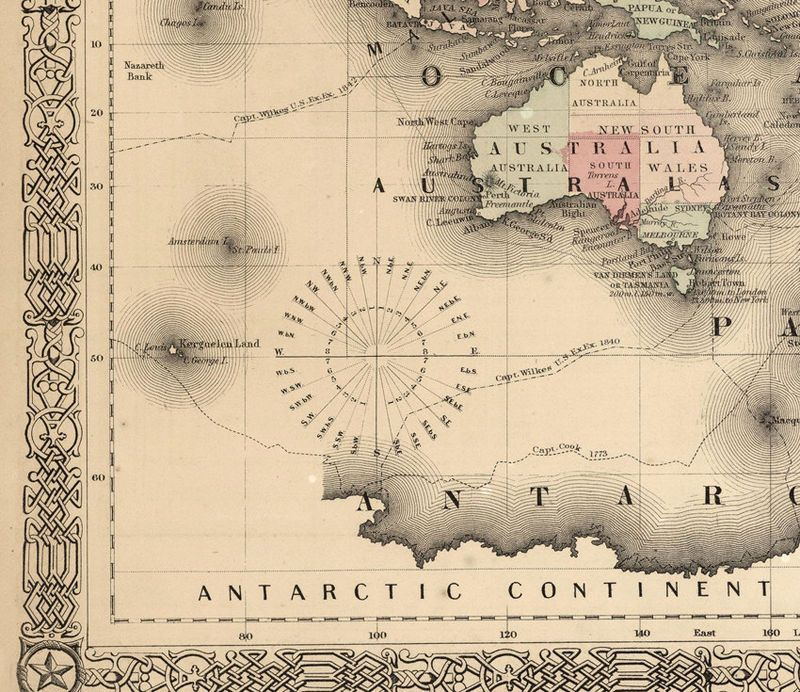 Old world map atlas vintage world map 1864 mercator projection old world map atlas vintage world map 1864 mercator projection gumiabroncs Image collections