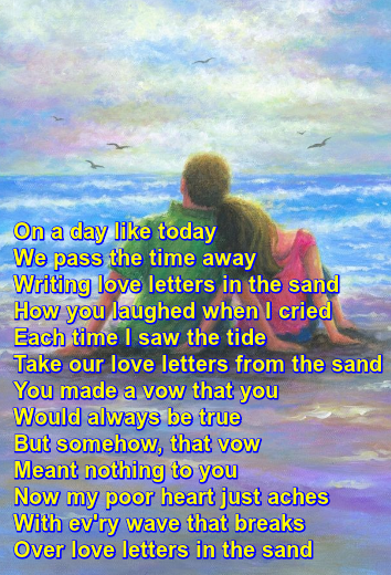 """Love Letters in the Sand"" recorded by Pat Boone Love"