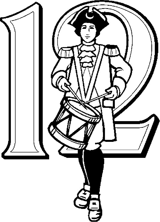 12 Drummers Printable 12 Days Of Christmas Coloring Pages Printable Christmas Coloring Pages Christmas Coloring Pages Twelve Days Of Christmas