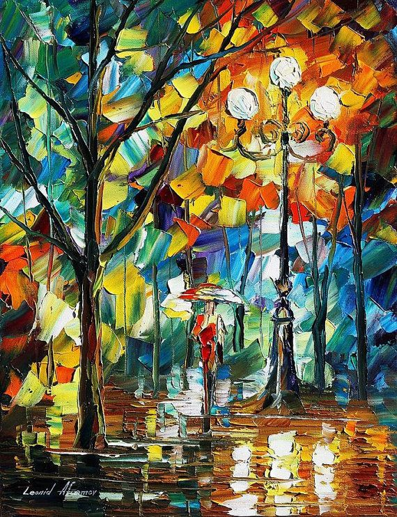 Miracle Palette Knife Landscape Modern Wall Hanging Art Deco Oil