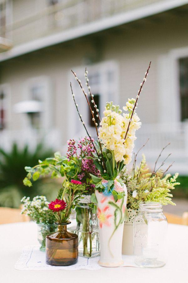 New Orleans Unique And Earthy Wedding Weddings Flower Arrangements