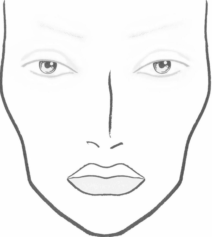 Formato De Rostro Libros De Maquillaje Gaficos De La Cara Dibujos De Maquillaje