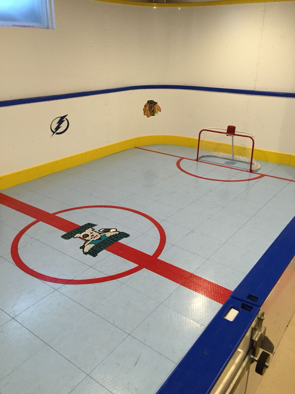Basement hockey rink with a sport court floor for the home basement hockey rink with a sport court floor for the home pinterest basements hockey and hockey room dailygadgetfo Gallery