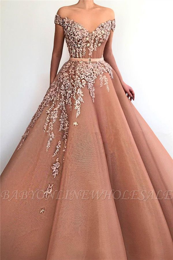 Unique Off the Shoulder Sweetheart Long Prom Dress
