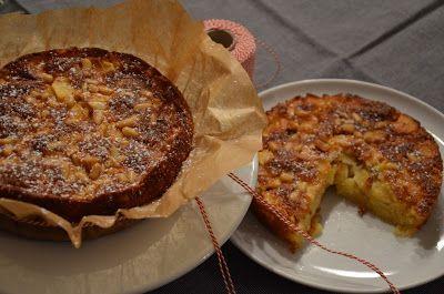 Italienischer Apfelkuchen mit Pinienkernen