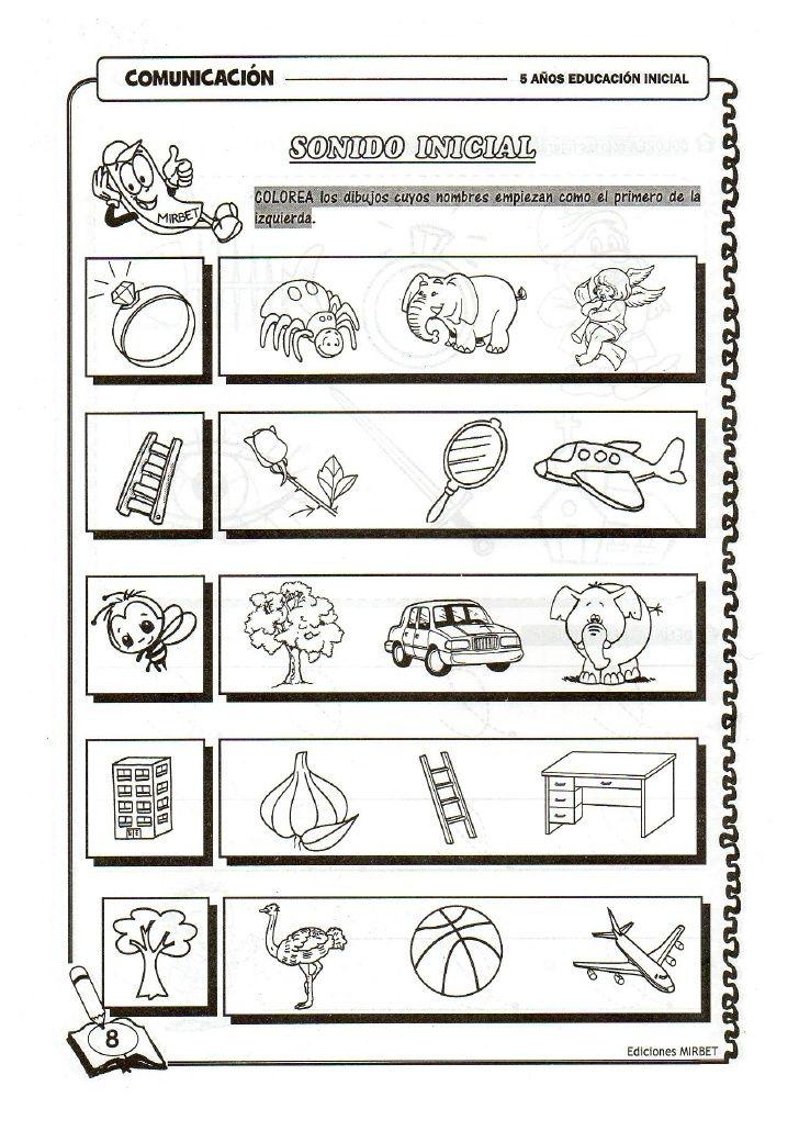 Comunicacion educación inicial 5 años | hojas 5 | Pinterest ...