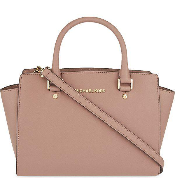 6a41e49532a42 MICHAEL MICHAEL KORS - Selma medium Saffiano leather satchel