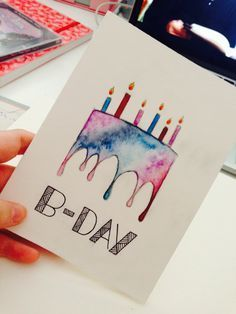 Diy Birthday Cards Ideas Watercolor Birthday Cards Cool