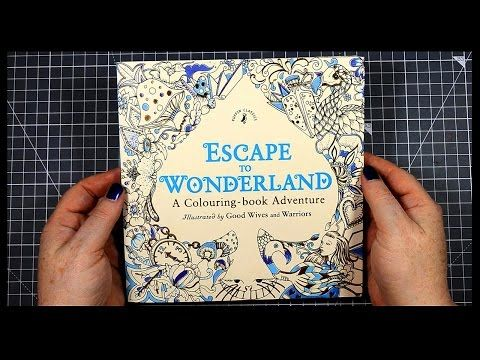 Thanks For Watching My Speed Coloring Demonstration Video In This Im Colouring A Page From The Escape To Wonderland Book By Good Wives