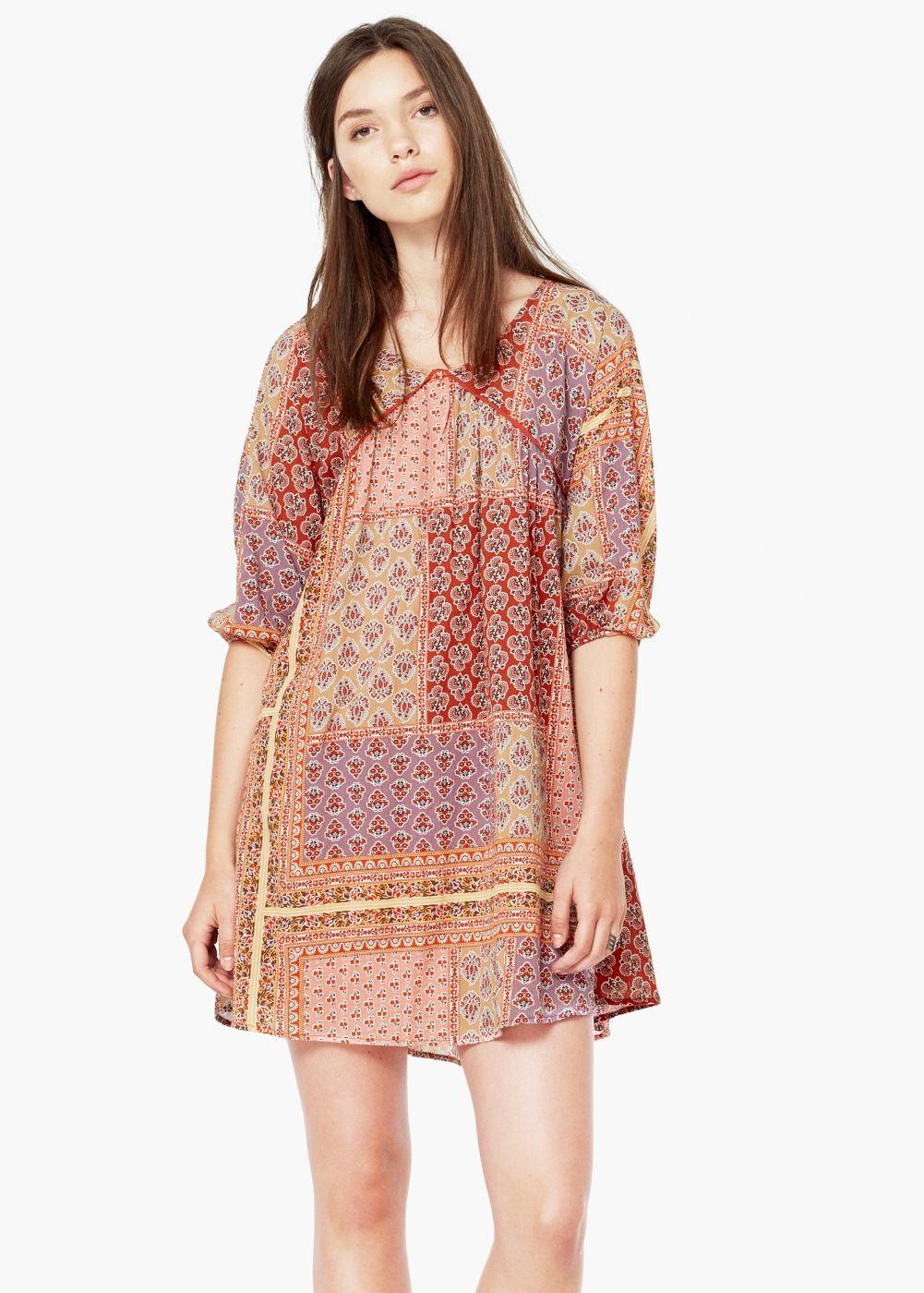 Vestido combinado algodão - Vestidos de Mulher  1a0b1ab3272f1