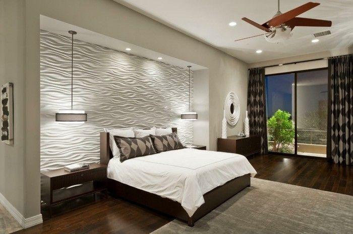 deko ideen schlafzimmer accessoires pendelleuchten eleganter teppich - Deko Für Schlafzimmer