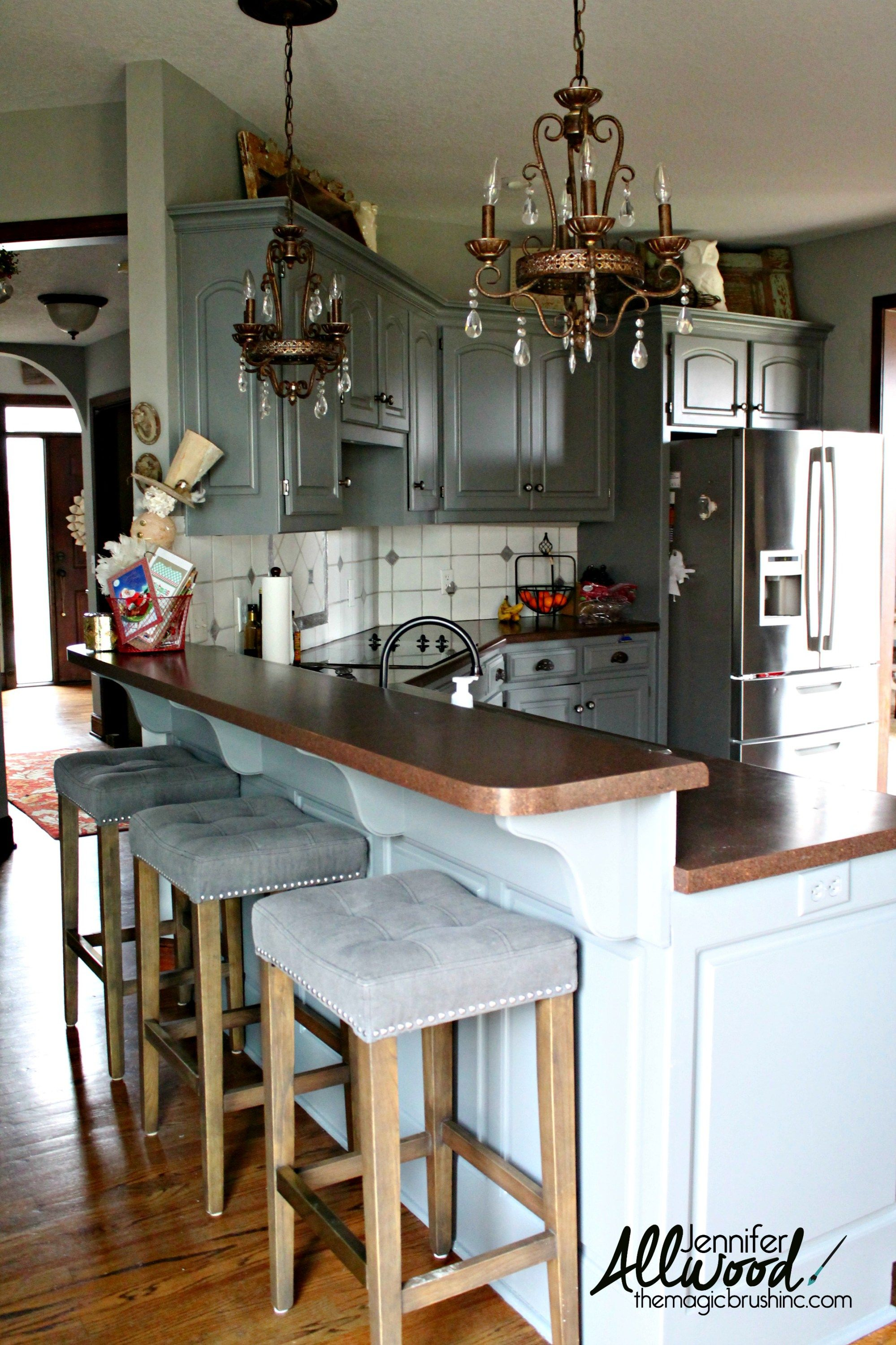 Why We Chose Silestone Countertops And To Lower Our Kitchen Bar Kitchen Bar Lights Kitchen Remodel Silestone Countertops