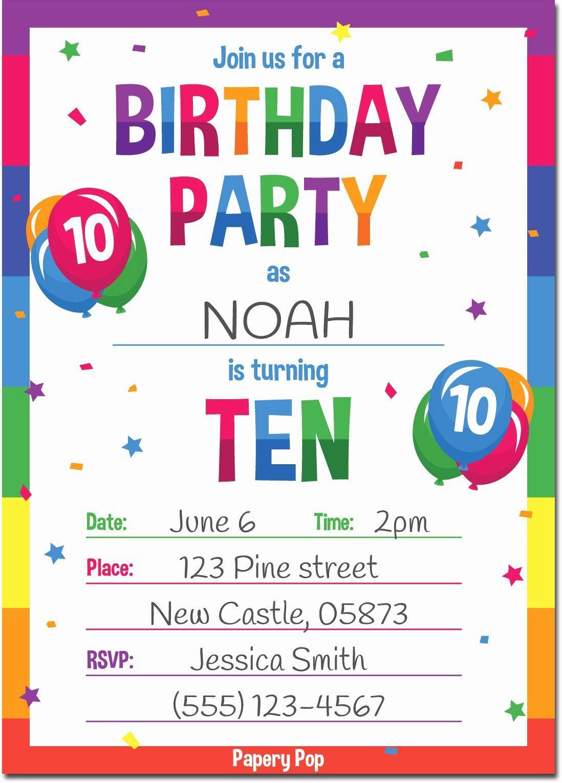 boys birthday party invitation template