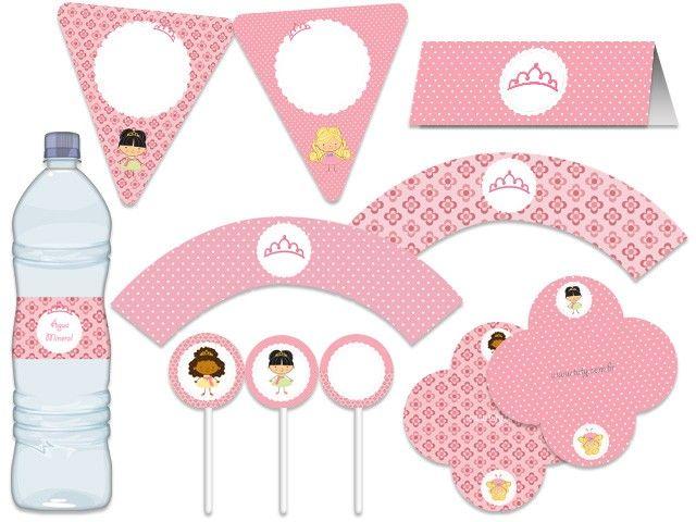 Festa Bonecas - Princesas - rosa  Tuty - Arte  www.tuty.com.br