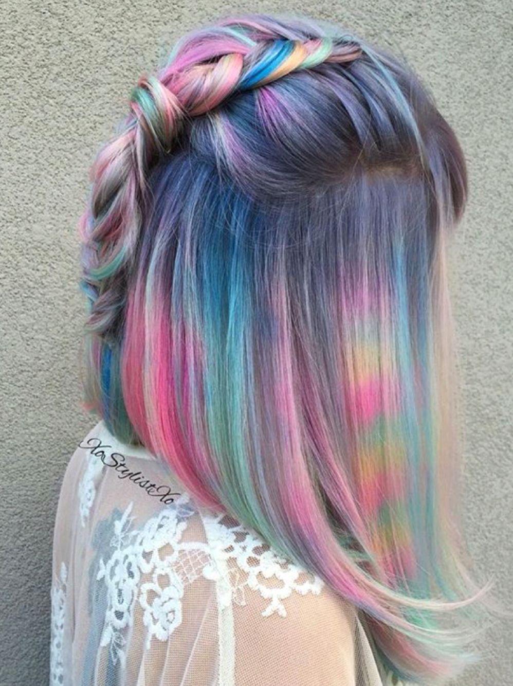 Moon Stone Galaxy hair. | hair | Pinterest | Color de cabello, Pelo ...