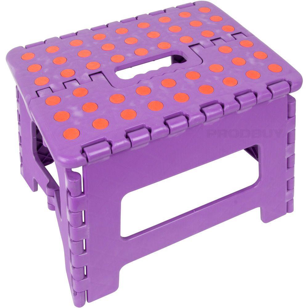 purple u0026 orange small folding step stool home office kitchen kids childs caravan