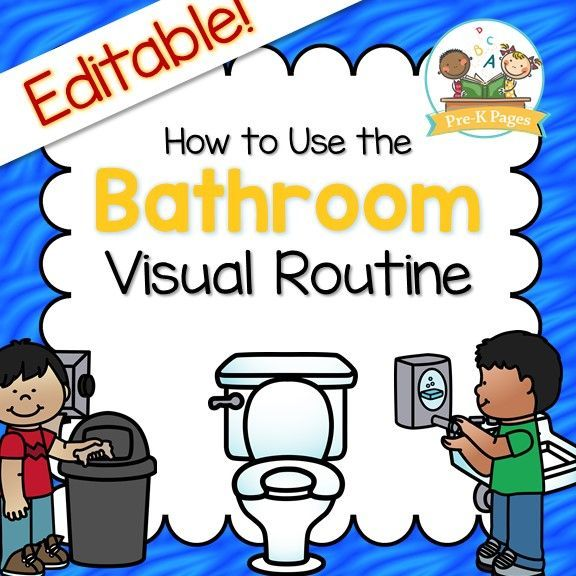 Bathroom Visual Routine Pre K Pages Classroom Management Preschool Classroom Routines Classroom Management