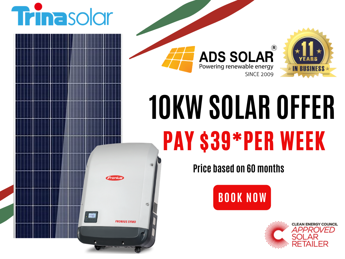 10kw System With Trina Panels Fronius Inverter In 2020 Solar System Ads