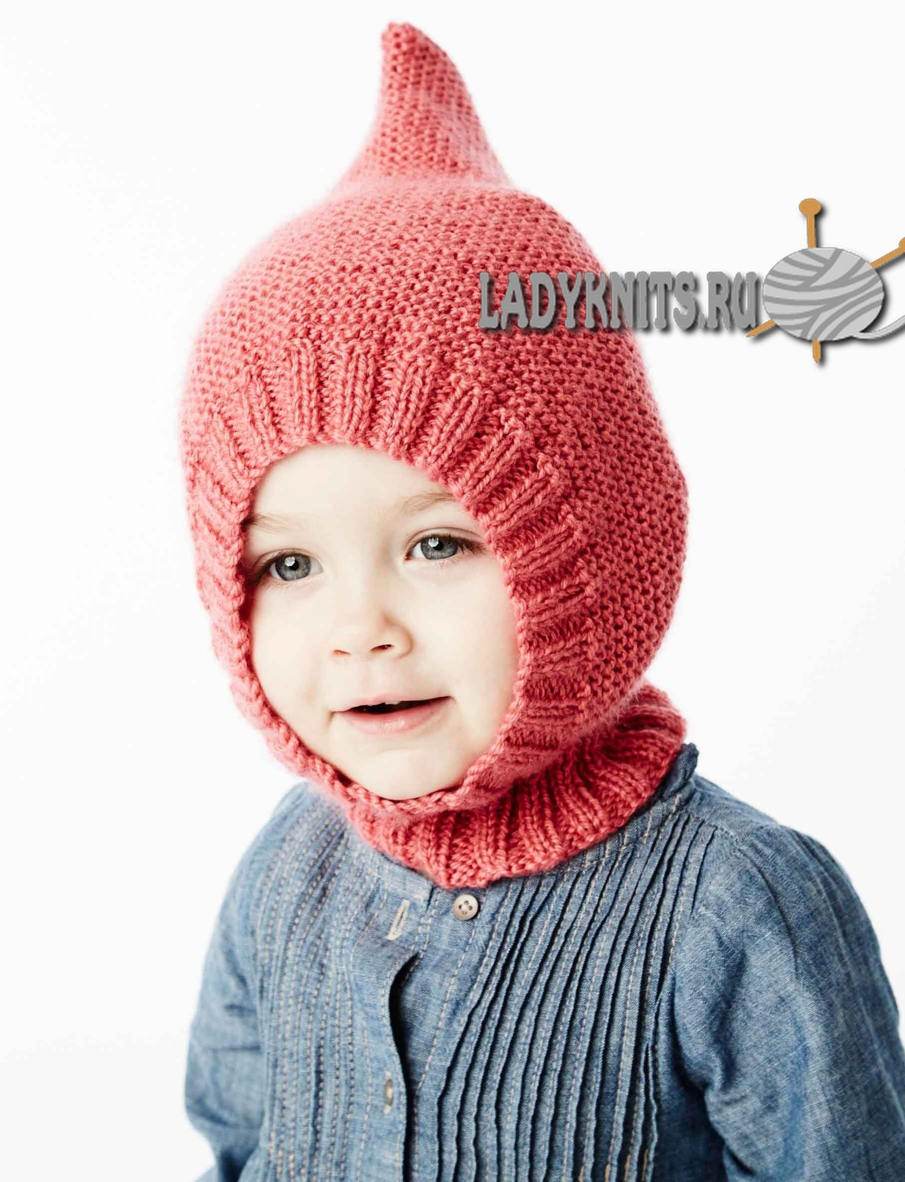 шапочка шлем спицами детские вязаные шапочки детские шапки