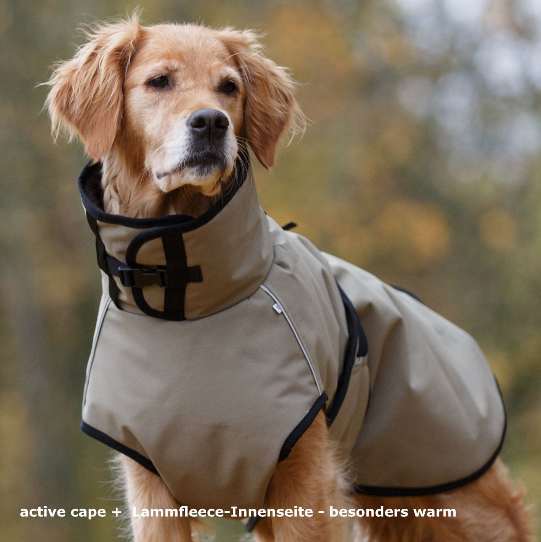 FIT4DOGS - Hundemantel - active cape + Auch bei Kälte und Nässe warm ...