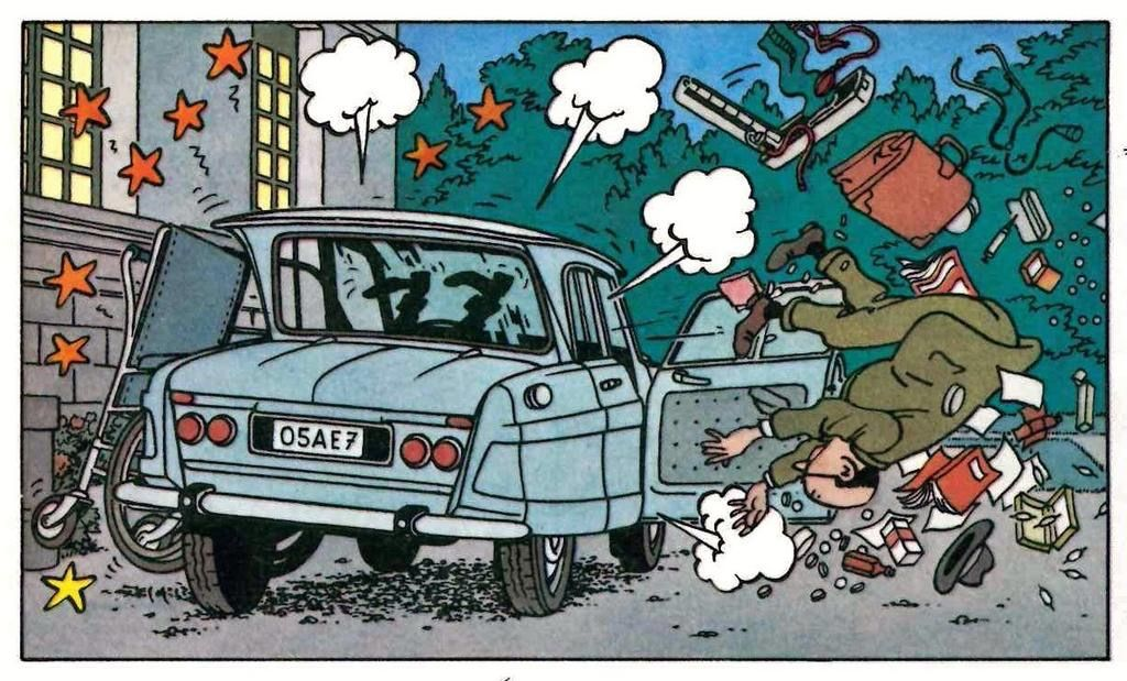 Les Bijoux De La Castafiore Voiture Tintin Tintin Herge