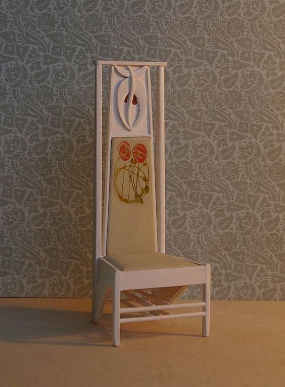 Charles Rennie Mackintosh High Backed Chair 1902 Mackintosh Furniture Charles Rennie Mackintosh Designs Mackintosh Design