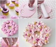 DIY Pretty Cupcake Wreath