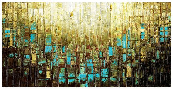 Canvas Wall Decor Large Abstract Wall Art Print by ModernHouseArt ...