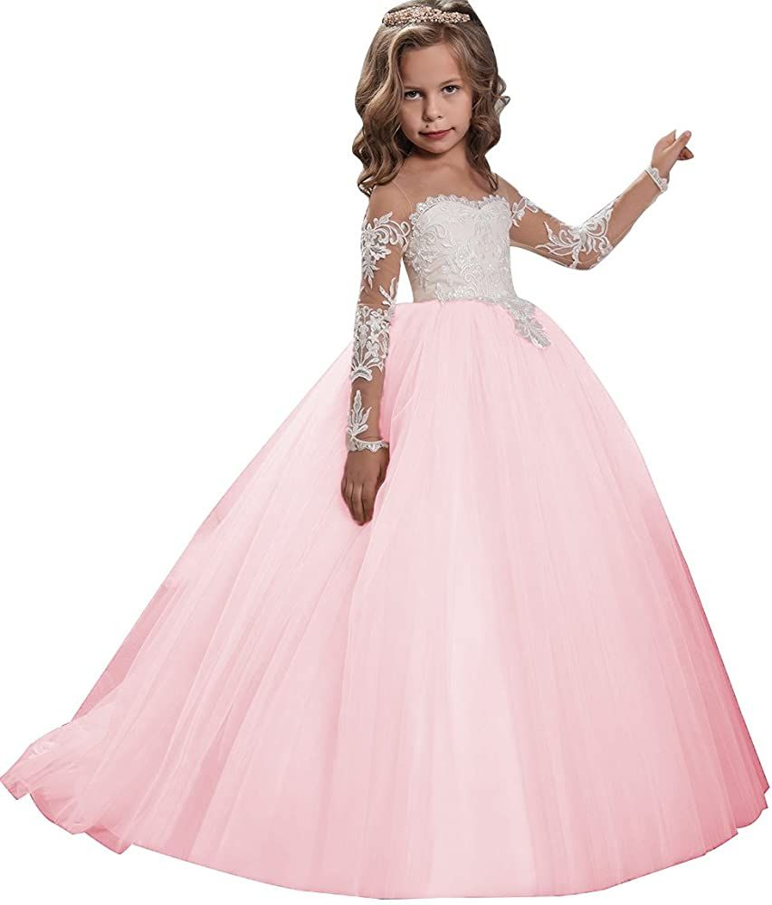 Amazon.com: KSDN Girls Toddler Pageant Dress Princess Ball Gown Flower  Princess Girls Dress(US 2 Pi… | Girls ball gown, Princess ball gowns,  Toddler pageant dresses