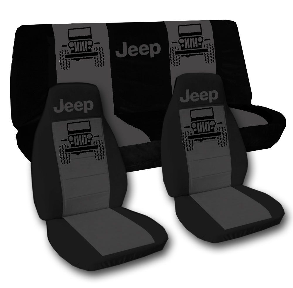 2014 Jeep Wrangler Sport Black and Charcoal Jeep Seat