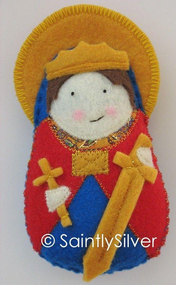 Saint Edward the Confessor Felt Saint Softie by SaintlySilver, $18.00