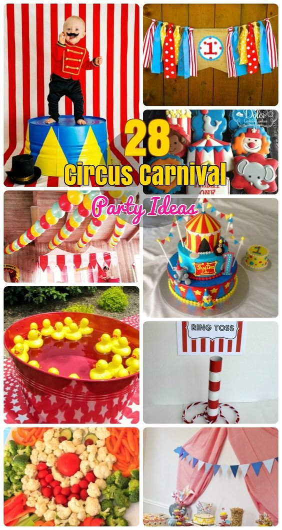 Carnival Theme Party Ideas Decorations Part - 38: 28 Circus Carnival Themed Birthday Party Ideas For Kids. Circus Theme Partyu2026