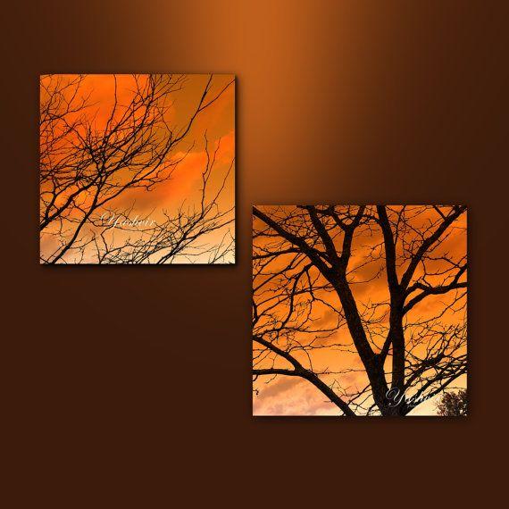 Orange skies  Fine art photographic print set orange by Yashvir, $20.00
