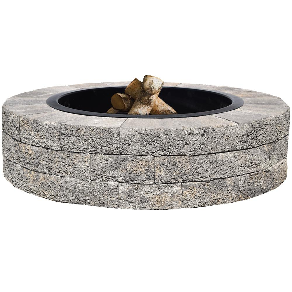 Oldcastle Countryside 48 In Gray Fire Pit Kit 70583194 The Home