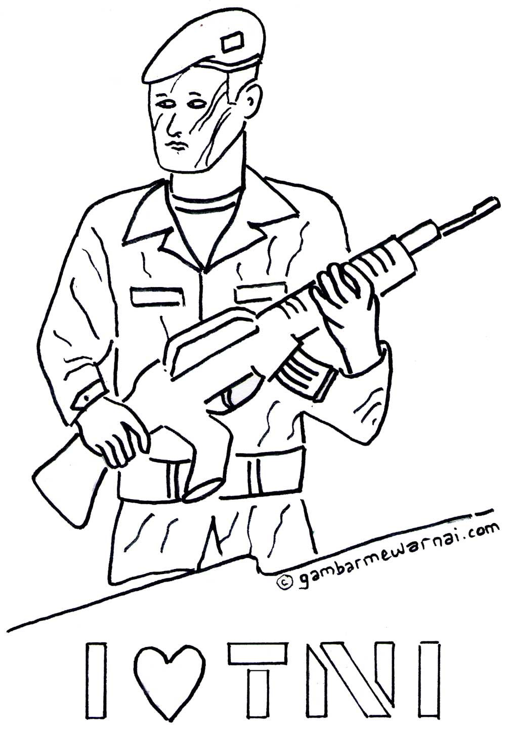 Gambar Mewarnai Tentara | abi | Education, Projects to try ...