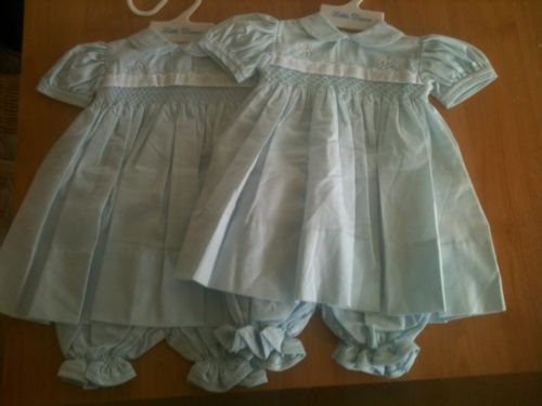 On Ebay Now---Nwot Twin Little Diana Smocked 2 Piece Dresses 3 Months