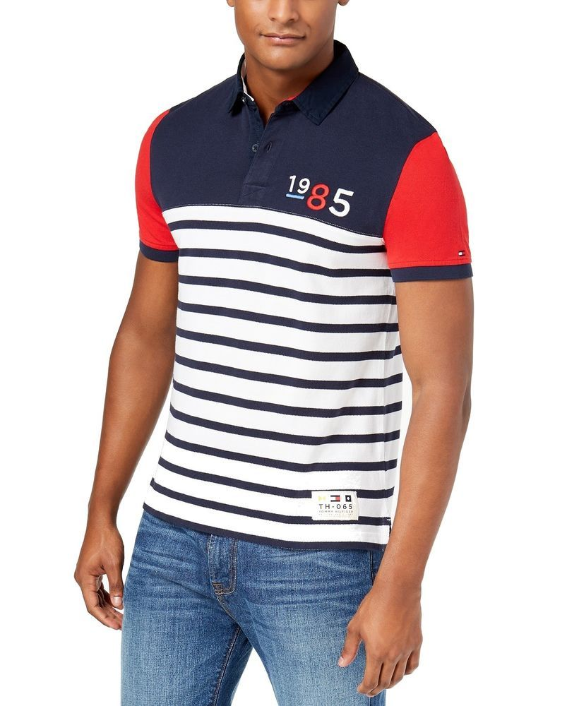 14ae6d656c76 Tommy Hilfiger NEW Blue Red Mens Size XL Striped Polo Rugby Shirt  69  015   fashion  clothing  shoes  accessories  mensclothing  shirts (ebay link)