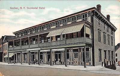 1911 Occidental Hotel Goshen Ny Post Card Orange County