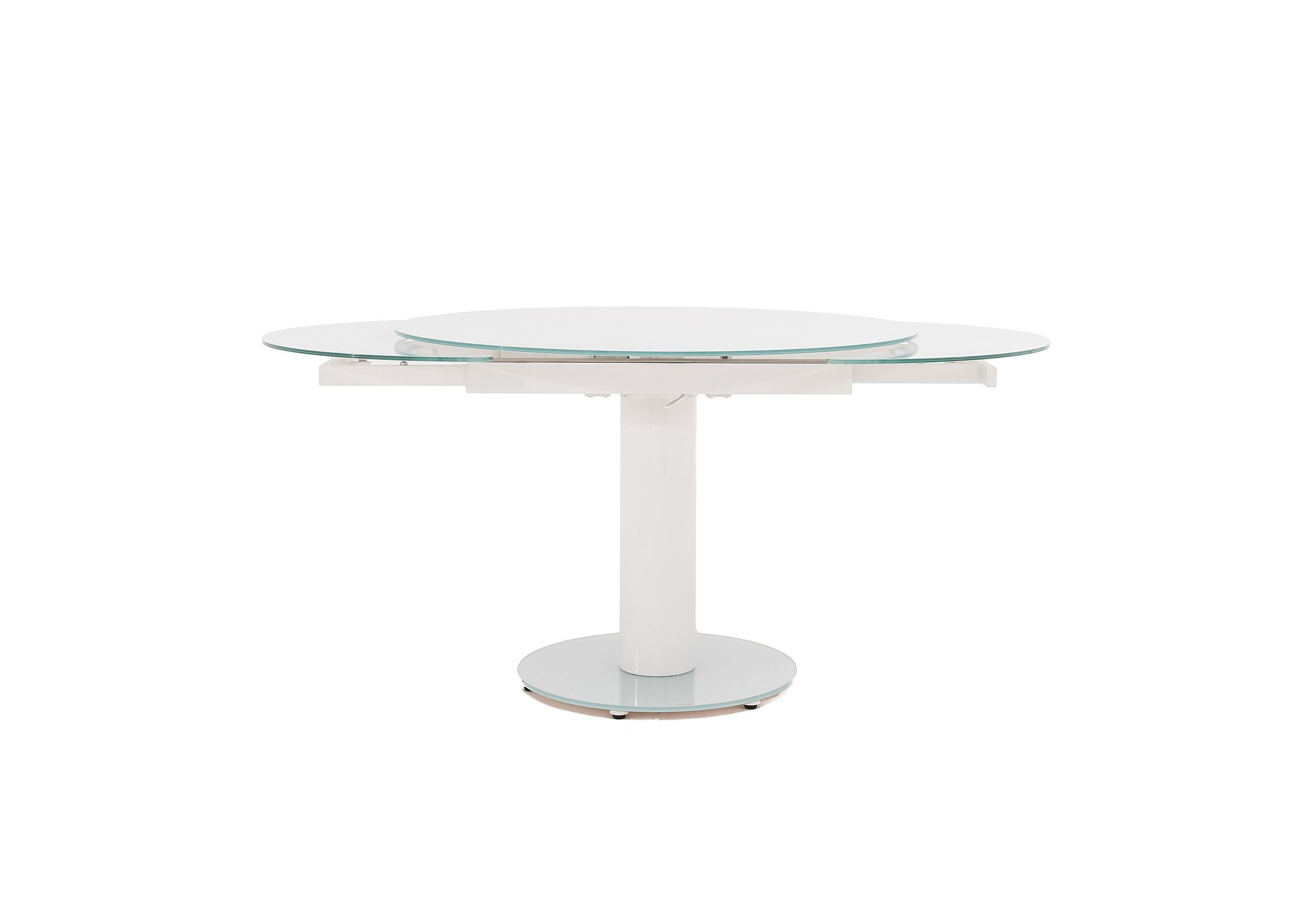 Bubble Round Extending Table Round Glass Kitchen Table Glass