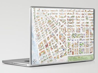 Greenwich Village Map iPad & Laptop Skin