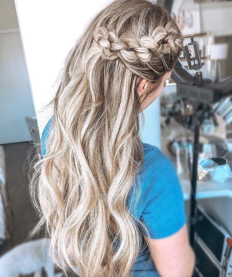 Beautiful Half Up Half Down Wedding Hairstyle Ideas Braided Half Up Half Down Hairstyles Boho Wedding Hairstyl Wedding Hair Down Short Wedding Hair Hair Styles