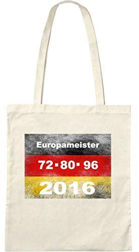 Europameister; Stofftasche weiß