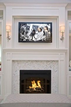 i like the herringbone pattern around the fireplace minus tv cottage and vine client inspiration fireplace surrounds u0026 builtins
