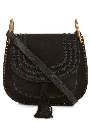 Hudson medium suede shoulder bag  33e8077806